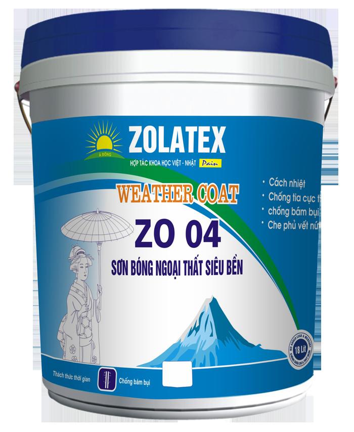Sơn bóng ngoại thất siêu bền WEATHER COAT- ZO 04